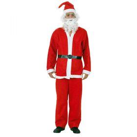 Χριστουγεννιάτικη Στολή Ενηλίκων Άγιος Βασίλης - Πλήρες Σετ (Εποχιακά)