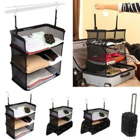 Πτυσσόμενα Ράφια για την Βαλίτσα και την Ντουλάπα - Shelves to Go Packable Suitcase (Οργάνωση σπιτιού)