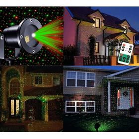 Νυχτερινός Διακοσμητικός Φωτισμός  2 Χρωμάτων με Τηλεχειρισμό - Laser Light 1 RC (Εποχιακά)