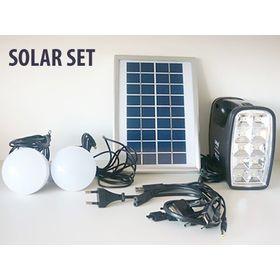 Ηλιακό Σύστημα Φωτισμού & Φόρτισης με Panel, Μπαταρία, Φακό & 2 Λάμπες LED 90LM (Φωτισμός)