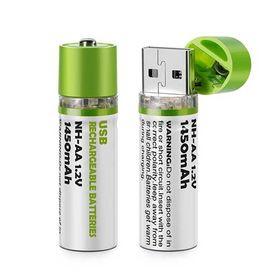 Σετ Επαναφορτιζόμενες Μπαταρίες ΑΑ με Βύσμα USB – 2 Τεμάχια (Τεχνολογία )