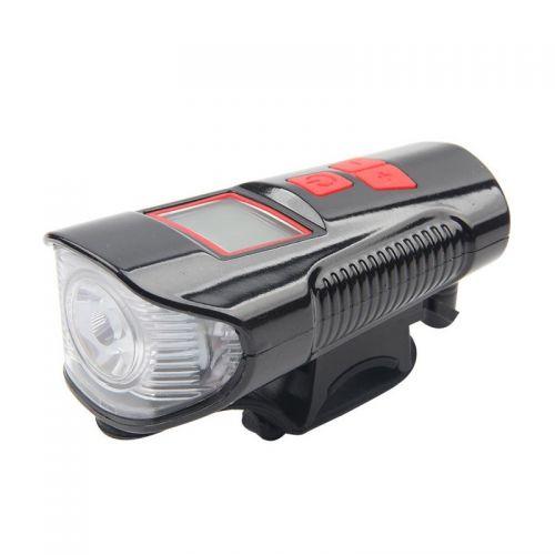 Αδιάβροχο Φως Ποδηλάτου με Οθόνη και Σειρήνα FY-317A OEM (Hobbies & Sports)