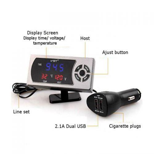Φορτιστής Αυτοκινήτου USB με Ενδείξεις ΟΕΜ (Αξεσουάρ αυτοκινήτου)