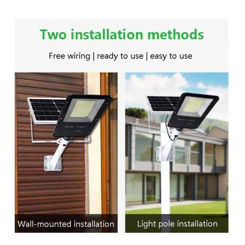 Ηλιακό Φωτιστικό Led 100W Εξωτερικού Χώρου με Τηλεχειριστήριο και Αισθητήρα Φωτός OEM (Φωτισμός)