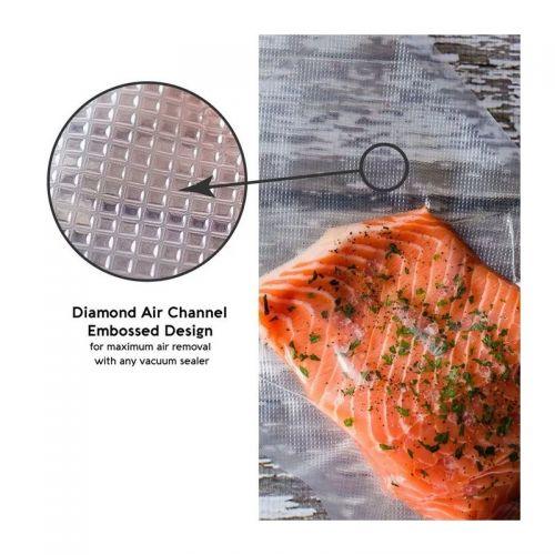 Σακούλες Τροφίμων για Μηχανήματα Συσκευασίας Vacuum 25 x 35 cm 100 τεμ. (Κουζίνα )