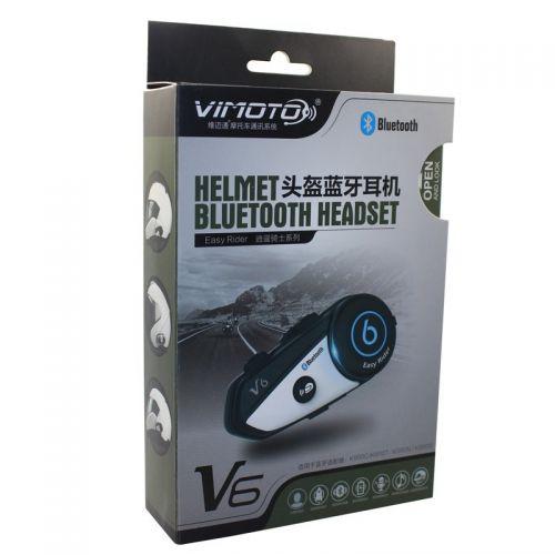 Ενδοεπικοινωνία Bluetooth Κράνους Μηχανής Vimoto V6 600mAh (Αυτοκίνητο - Μηχανή - Σκάφος)