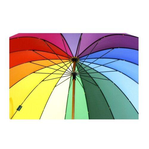 Ομπρέλα Βροχής Ουράνιο Τόξο 16 Ακτίνων (Μόδα)