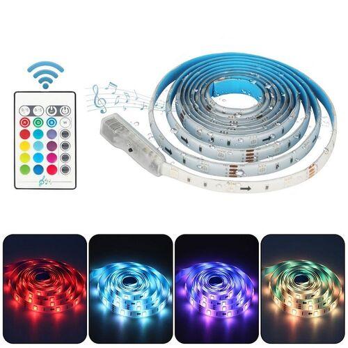 Διακοσμητικός Φωτισμός RGB με Αισθητήρα Ήχου και Τηλεχειριστήριο (Φωτισμός)