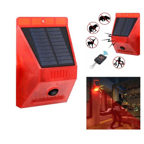 Ηλιακός Συναγερμός 129 dB με Τηλεχειριστήριο και Φωτισμό Ειδοποίησης (Ασφάλεια & Παρακολούθηση)
