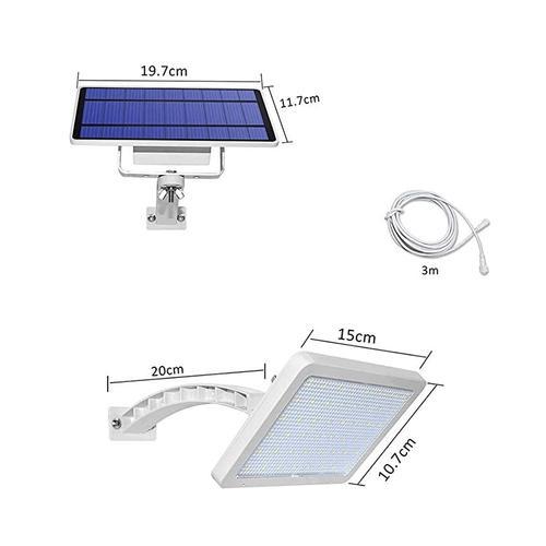 Ηλιακός Προβολέας 48 LED με Βραχιώνα και Πάνελ (Φωτισμός)
