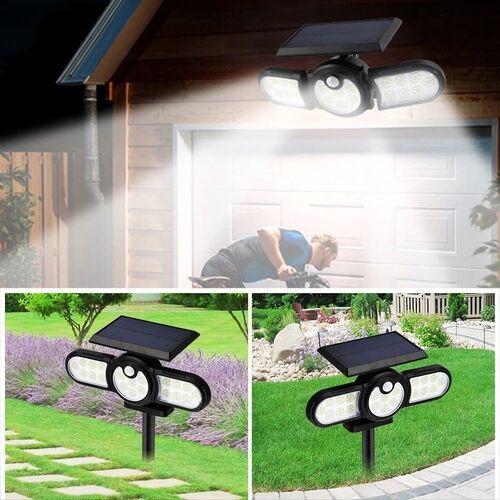 Τριπλό Ρυθμιζόμενο Ηλιακό Φωτιστικό Εξωτερικού Χώρου 120 LED με Αισθητήρα Κίνησης (Φωτισμός)