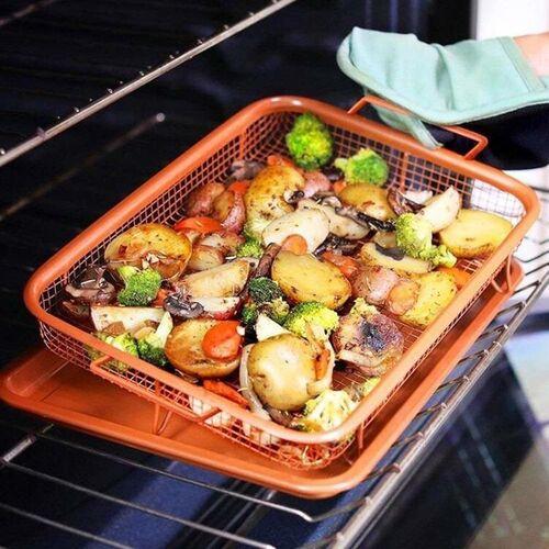 Ταψί για Τηγάνισμα Χωρίς Λάδι στο Φούρνο (Κουζίνα )