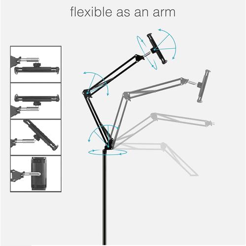 Επιδαπέδια Βάση Κινητού - Τάμπλετ Handsfree με Προσαρμοζόμενο Βραχίονα 1.4m (Κινητά & Αξεσουάρ)