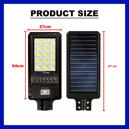 Αυτόνομο Ηλιακό Σύστημα Εξωτερικού Φωτισμού LED 200w με Τηλεχειριστήριο GD-98200 (Φωτισμός)