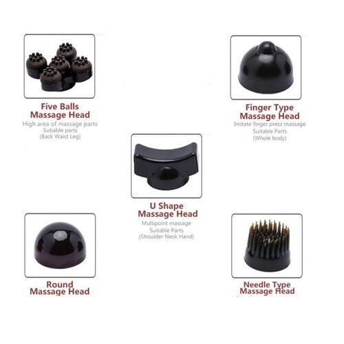 Επαναφορτιζόμενη Συσκευή Μασάζ Phantom για Όλο το Σώμα με 5 Κεφαλές (Υγεία & Ευεξία)