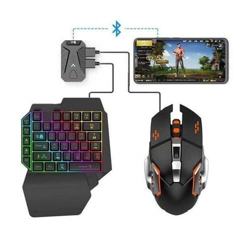 Σετ Gaming Κινητού με Πληκτρολόγιο και Ποντίκι Bluetooth RGB LED, Φορτιστής USB και Βάση Στερέωσης (Τεχνολογία )