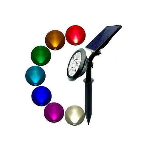 Ηλιακό Προβολάκι 5W led RGB με Τηλεχειριστήριο (Φωτισμός)