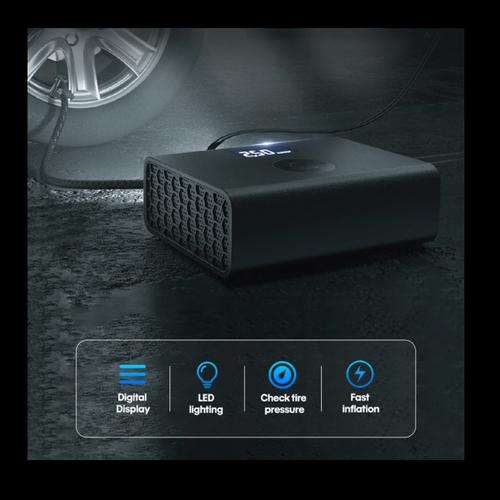Ισχυρή Ηλεκτρική Τρόμπα Αυτοκινήτου με Ψηφιακή Οθόνη (Αξεσουάρ αυτοκινήτου)