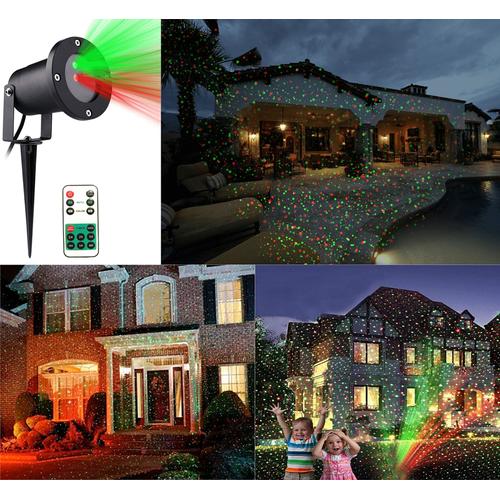 Διπλής Δέσμης Χριστουγεννιάτικος Διακοσμητικός Προβολέας Laser 2 Χρωμάτων Green - Red με Τηλεχειριστήριο - Laser Light 2RC (Εποχιακά)