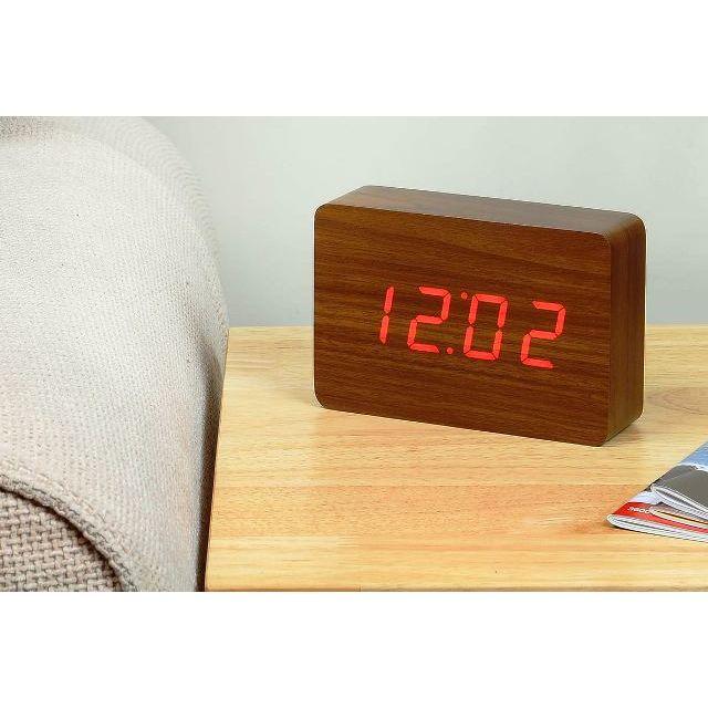 ... Ξύλινο Επιτραπέζιο Ρολόι Ξυπνητήρι με Αισθητήρα Ήχου και Δόνησης -  Ημερολόγιο και Θερμόμετρο (Ρολόγια) 59990d0df0e